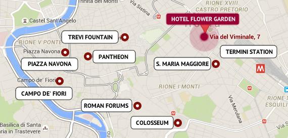 monti rome map